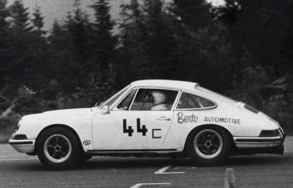 Bert Sr. racing his 1960 Porsche